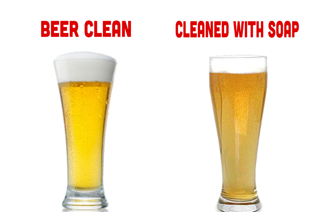 beer clean vs soap