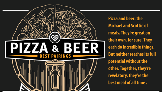 Pizza and Beer Perfect Pairings [infografic]