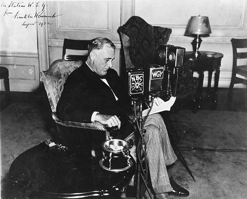 fdrs first fireside chat Fdr's public papers suggests that the fireside chats were , on a number of   the first fireside chat on march 12, 1933, the principal mode of presidential.